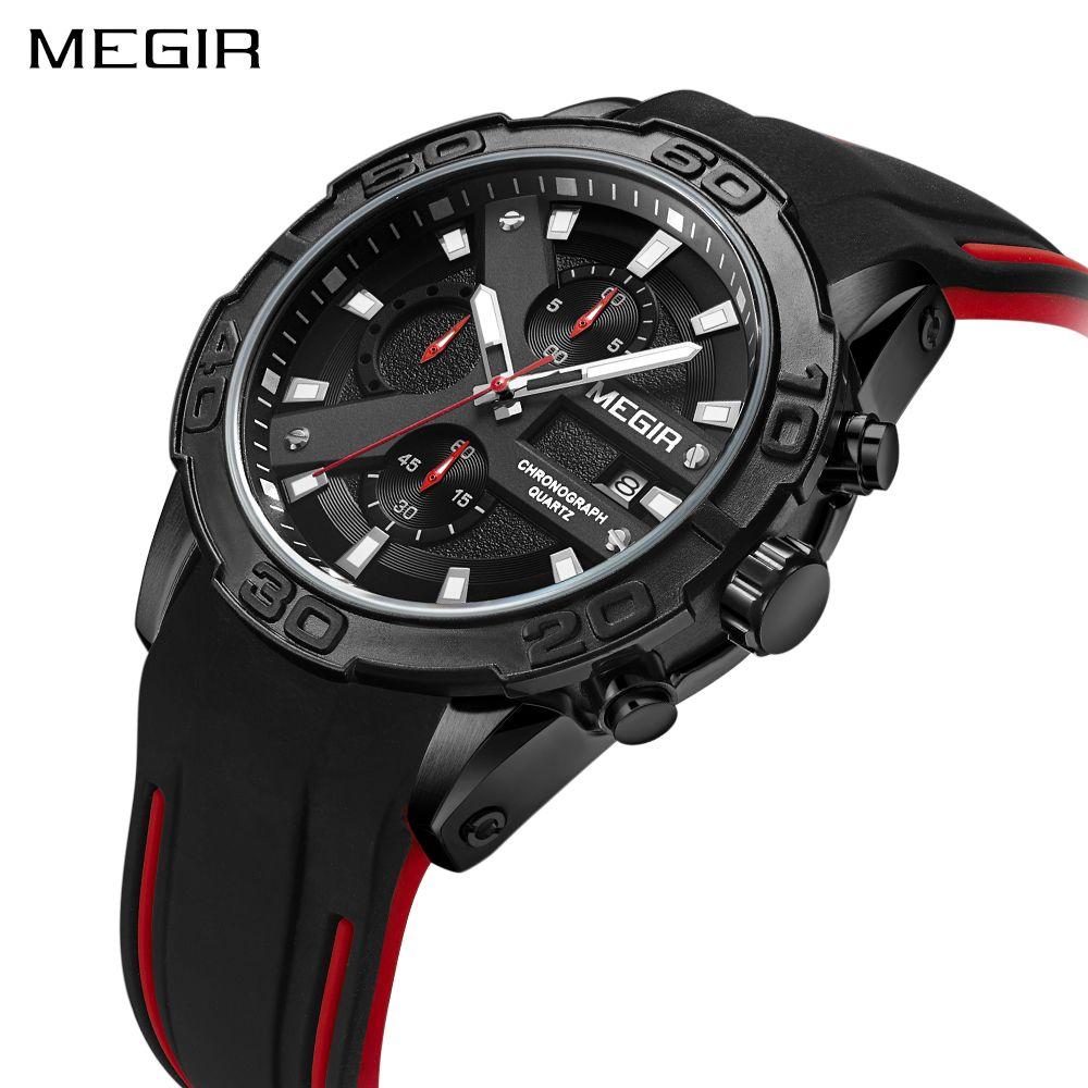 MEGIR Men Sport Wristwatches Fashion Analog Quartz Watch Military Men's Luxury Brand Waterproof Watches Clock Relogio Masculino