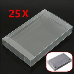 For SNES 25x Game Cartridge Protector Case For Super NES Plastic Cover Box For Nintendo Brand New Game Cartridge Cover Case