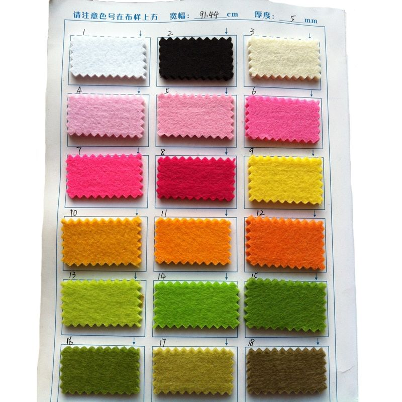 High Quality Thickness 5mm Felt Fabric Non woven feltro 90X45cm For Home Storage DIY Handmade Shoes Coaster Material