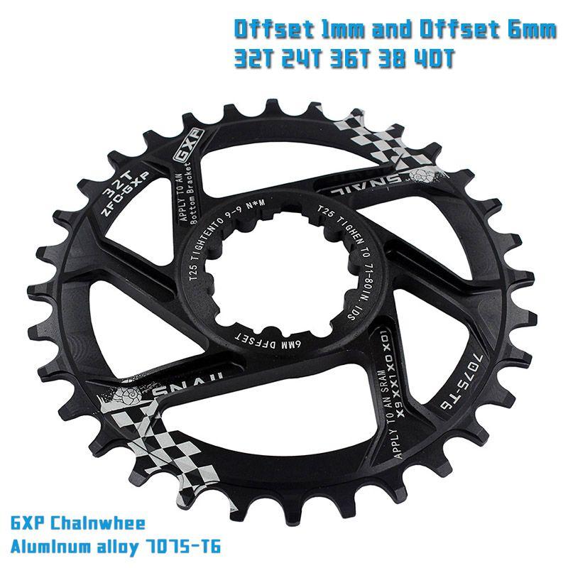 VTT GXP vélo Pédalier pignon fixe Manivelle 32 T 34 T 36 T 38 T 40 T Plateau Chainwhee pour sram gx xx1 X1 x9 gxp Aigle NX
