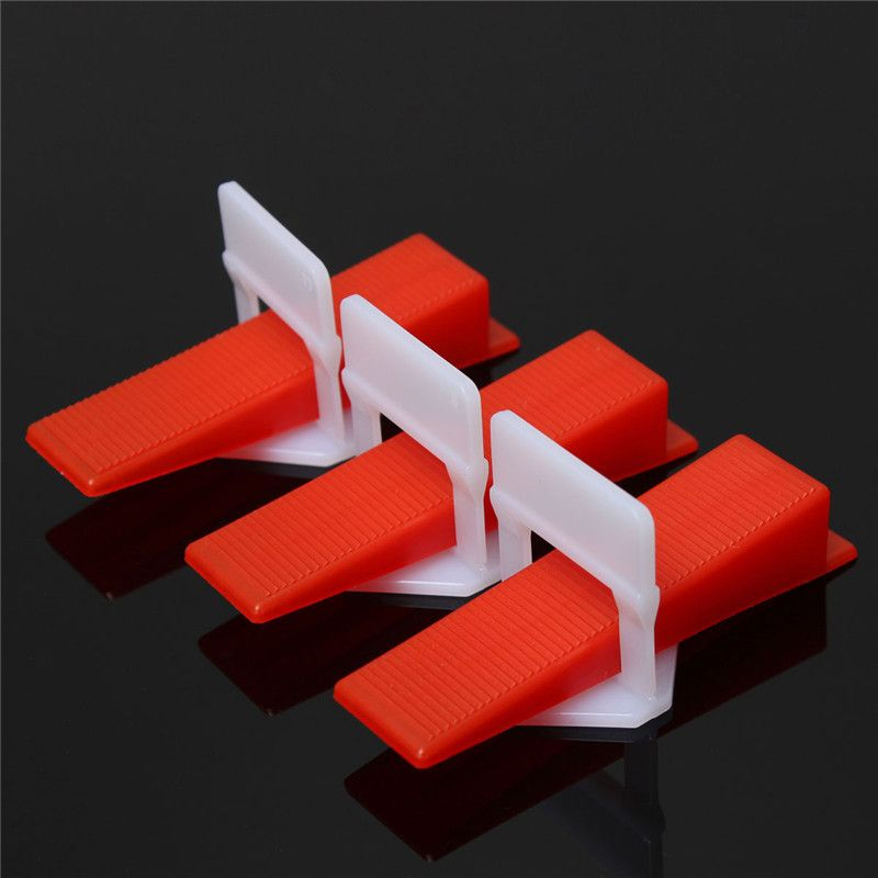 200pcs/100set Tile Leveling System Wedges and Clips Spacer Plastic Tiling Tools Prevent movement during installation of tiles