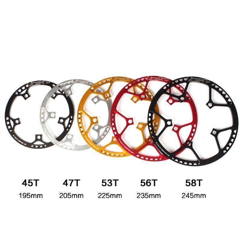 Litepro ultraléger 130 BCD 45T 47T 53T 56T 58T A7075 alliage BMX plateau vélo pliant BMX roue vélo pédalier dent