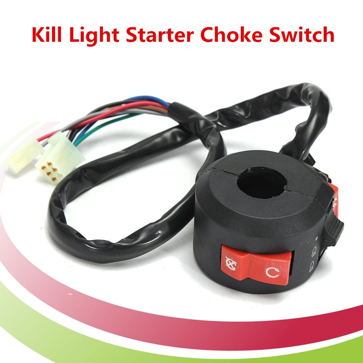 Kill light Starter Choke lever Left Handlebar Handle Control Switch For 90cc 110cc 125cc ATV Quad Portable