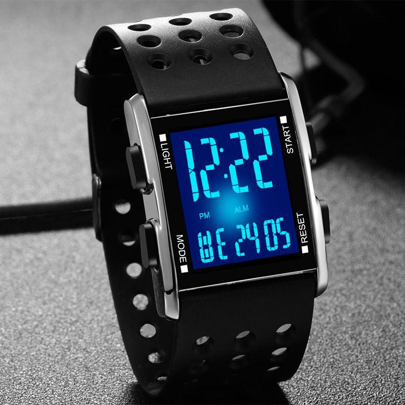 Men led Wristwatch Waterproof Electronic Sport watches Casual Fashion Digital Clock Running Gift Box Reloj Hombre <font><b>Feminino</b></font> Watch