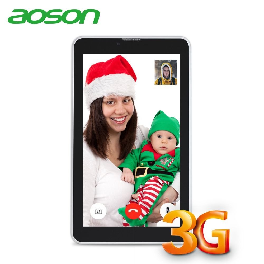 Aoson 3G Tablet 7 inch DUAL SIM Card Phone <font><b>Call</b></font> Tablets Android 7.0 Tablet PC IPS screen GPS WIFI 16GB ROM Quad Core