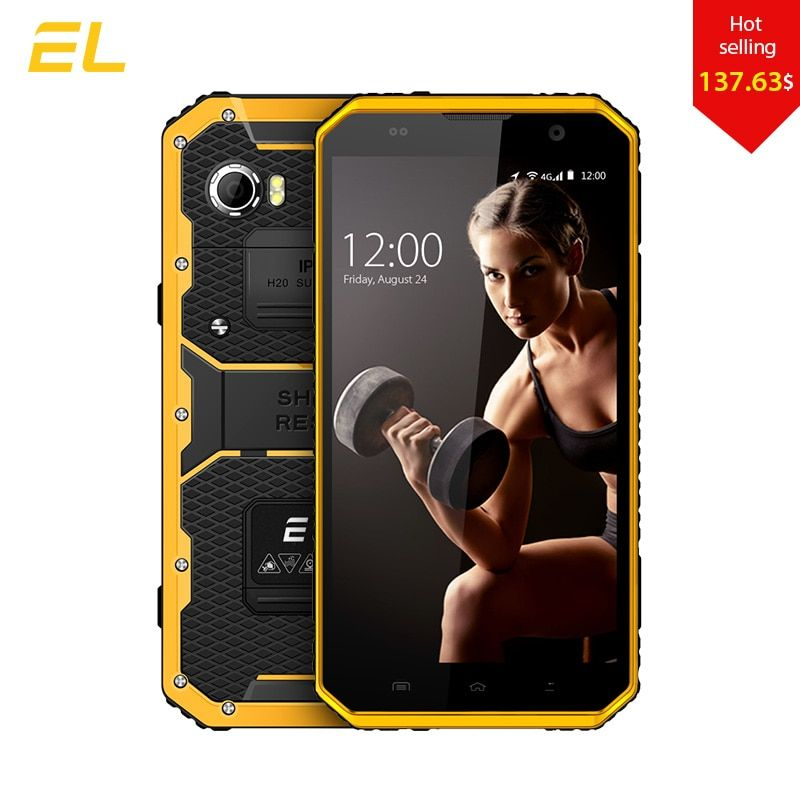 E&L W9 Smartphone Android 6.0 Inch 4G IPS Full HD Octa Core 4000mAh IP68 Rugged Waterproof Shockproof Phone Touch Mobile Phone