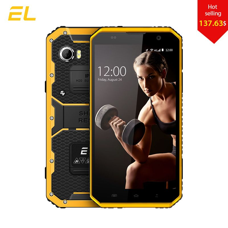 E & L W9 Smartphone Android 6.0 Zoll 4G IPS Vollen HD Octa-core 4000 mAh IP68 Robusten Wasserdichtes Shockproof Handy Touch-Handy telefon