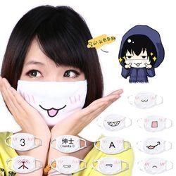 Moe & Cute аниме Kaomoji-kun Emoticon рот Муфельная хлопок Анти-пыль маска для лица