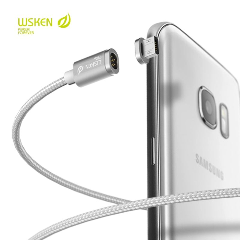WSKEN MINI 2 recharge magnétique rapide câble connecteur prise métal USB pour IPhone Samsung LG Xiaomi Huawei