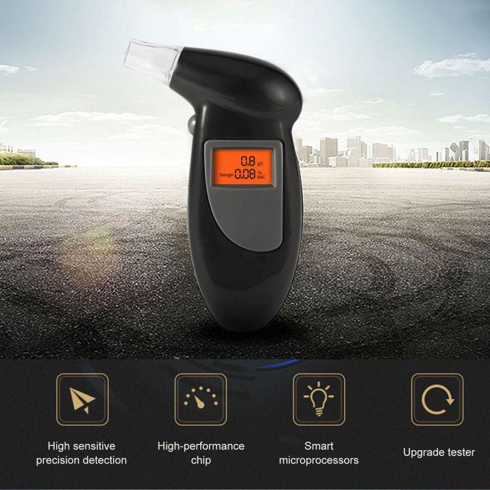 Rétro-éclairage affichage numérique LCD alerte souffle alcool testeur professionnel Police alcool l'alcootest de stationnement alcootest