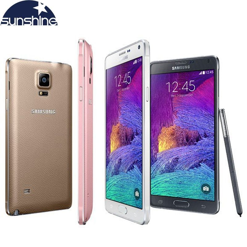 Original Unlocked Samsung Galaxy Note 4 N910 N9100 LTE 4G Mobile Phone 16.0MP 5.7