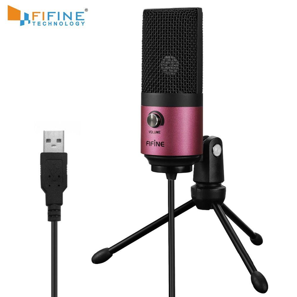 Micro USB micro à condensateur de bureau Fifine pour vidéos YouTube diffusion en direct en ligne réunion Skype costume pour Windows MAC PC k669