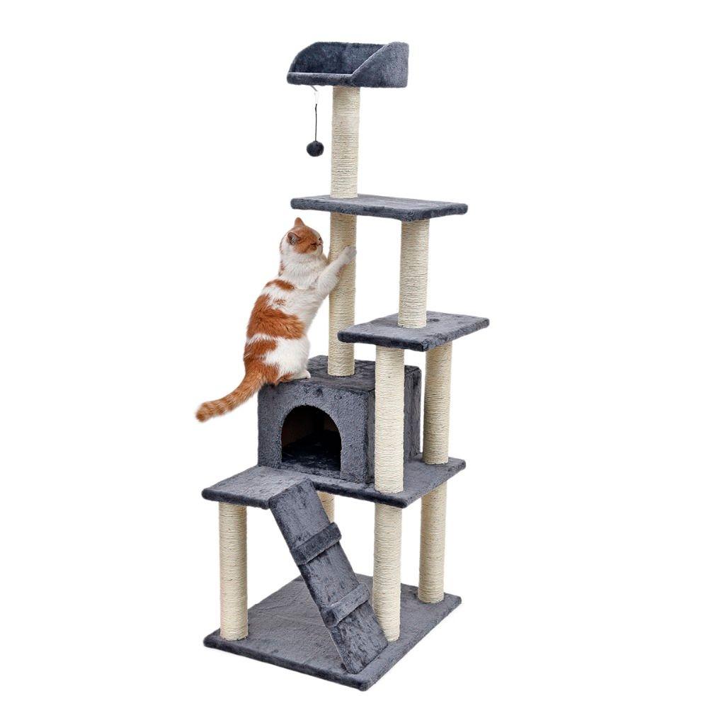 RU Domestic Lieferung Kätzchen Katze Baum Kratzen Post Haus Spielen Spielzeug Katze Scratcher Katze Matte Klettern Spielen Klettern Furnitur