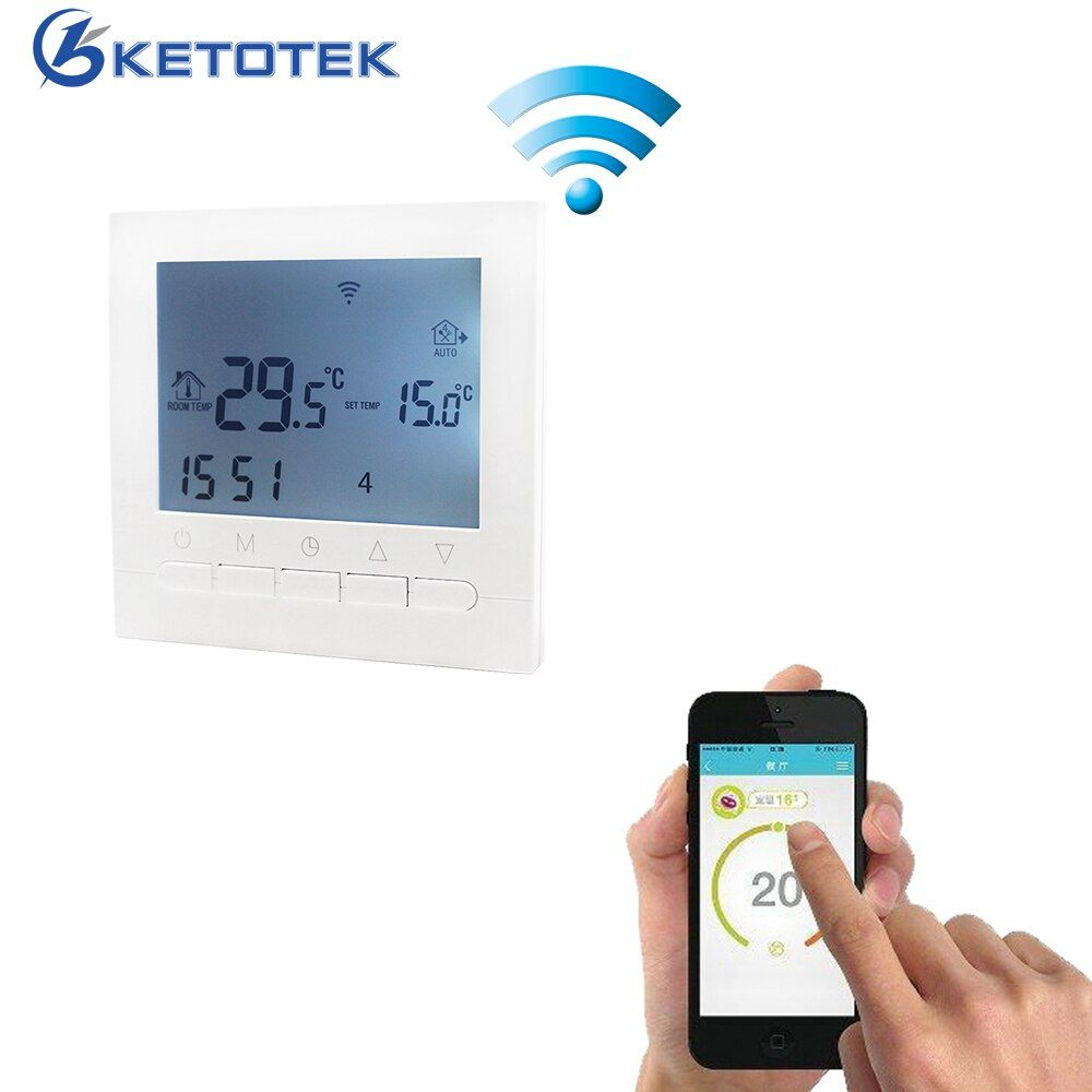 16A AC 220V WIFI Heating Thermostat Water/Electric Heating System WIFI Thermostat APP Controls for Warm Floor