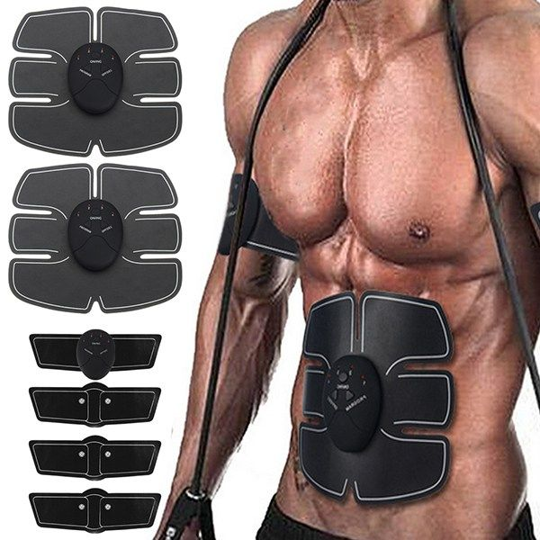8PCS Smart Fitness abdominal arm exerciser Device abdominal muscles intensive training Electric Weight Loss Slimming Massager