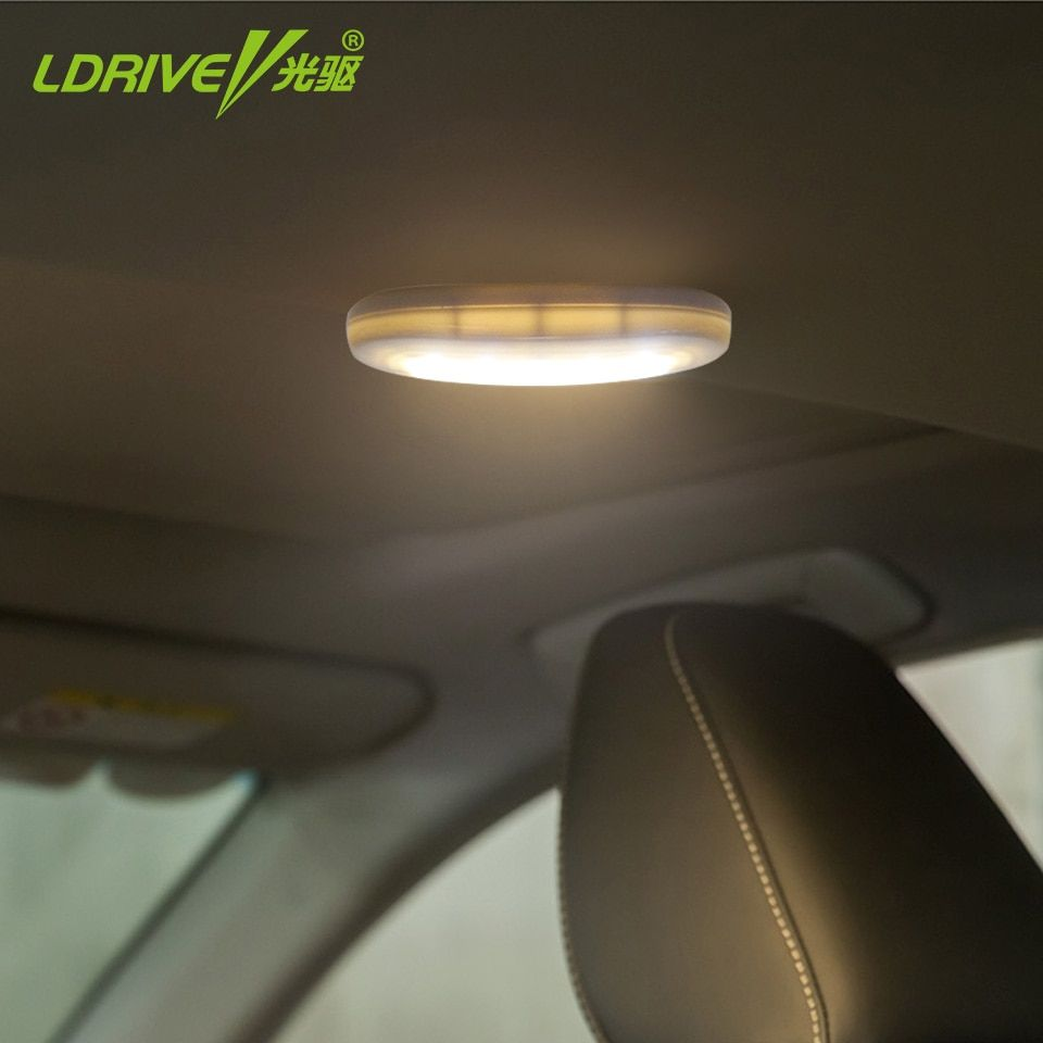 Car Truck Interior Wireless Reading Light Roof Celling Magnetic LED Lamp With Charging USB White/Blue Emitting Color Car-Styling