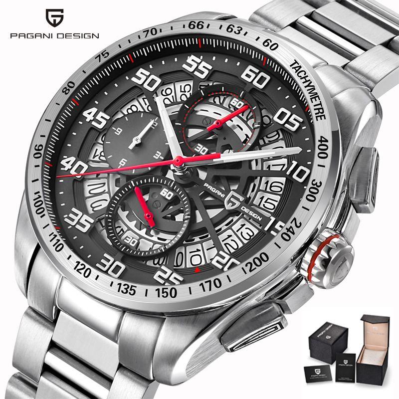 Mens Pilot Uhren Top Marke Luxus Sport Chronograph Quarz Uhr Männer Stell Lederband Armbanduhr Wasserdicht Mann Uhr Saat