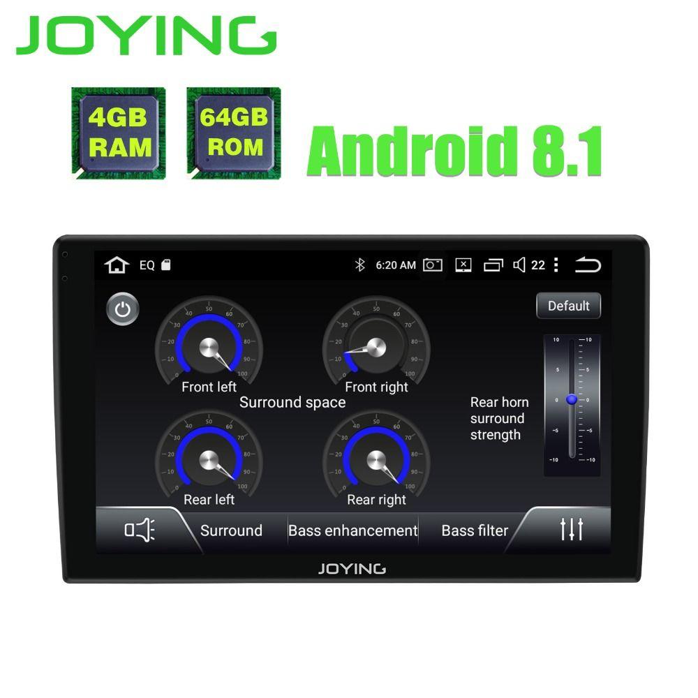 JOYING android 8.1 auto radio autorradio 1din 9 ''stereo Octa 8 Kerne gps navigation-player mit 2.5D Gebogene Glas bildschirm und DSP