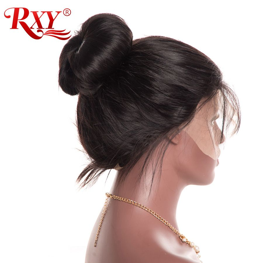 Pre Plucked Full Lace Human Hair Wigs With Baby Hair RXY Glueless Straight Full Lace Wigs For Women No Remy Black Brazilian Wig