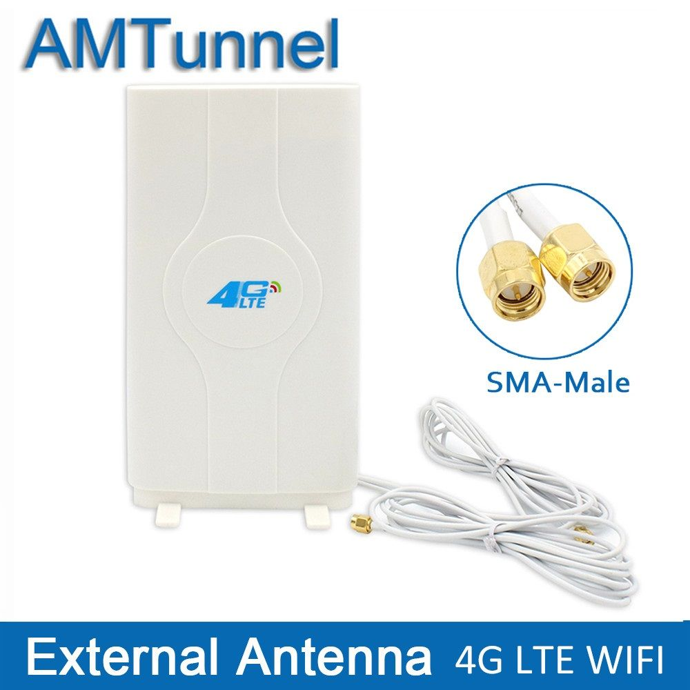 3G 4G LTE antenna LTE mimo Antenna 2*SMA-male/TS9/CRC9 Connector with 2M Cable 700~2600Mhz 88dBi for Huawei router