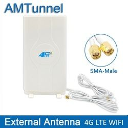 3g 4g LTE antenne Mobile antenne 2-SMA-male/TS9/CRC9 Connecteur Booster mimo Panneau Antenne avec 2 mètres Câble 700 ~ 2600 mhz 88dBi