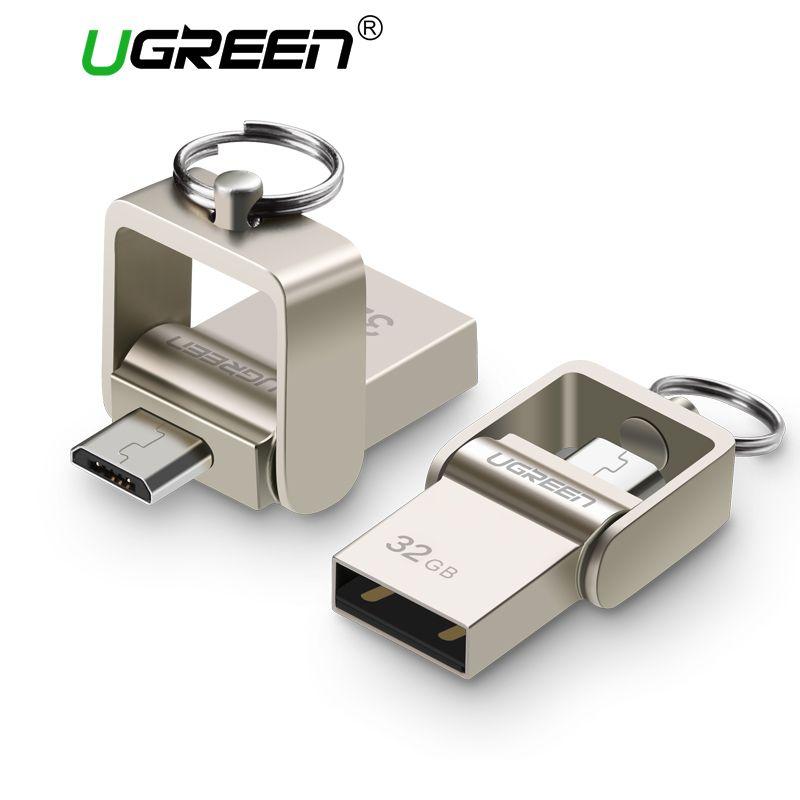 Ugreen clé usb micro usb OTG Pendrive 64 32 GB Pour Xiaomi Redmi Note 5 Redmi 5 Plus 4X Téléphone carte mémoire Carte clé usb