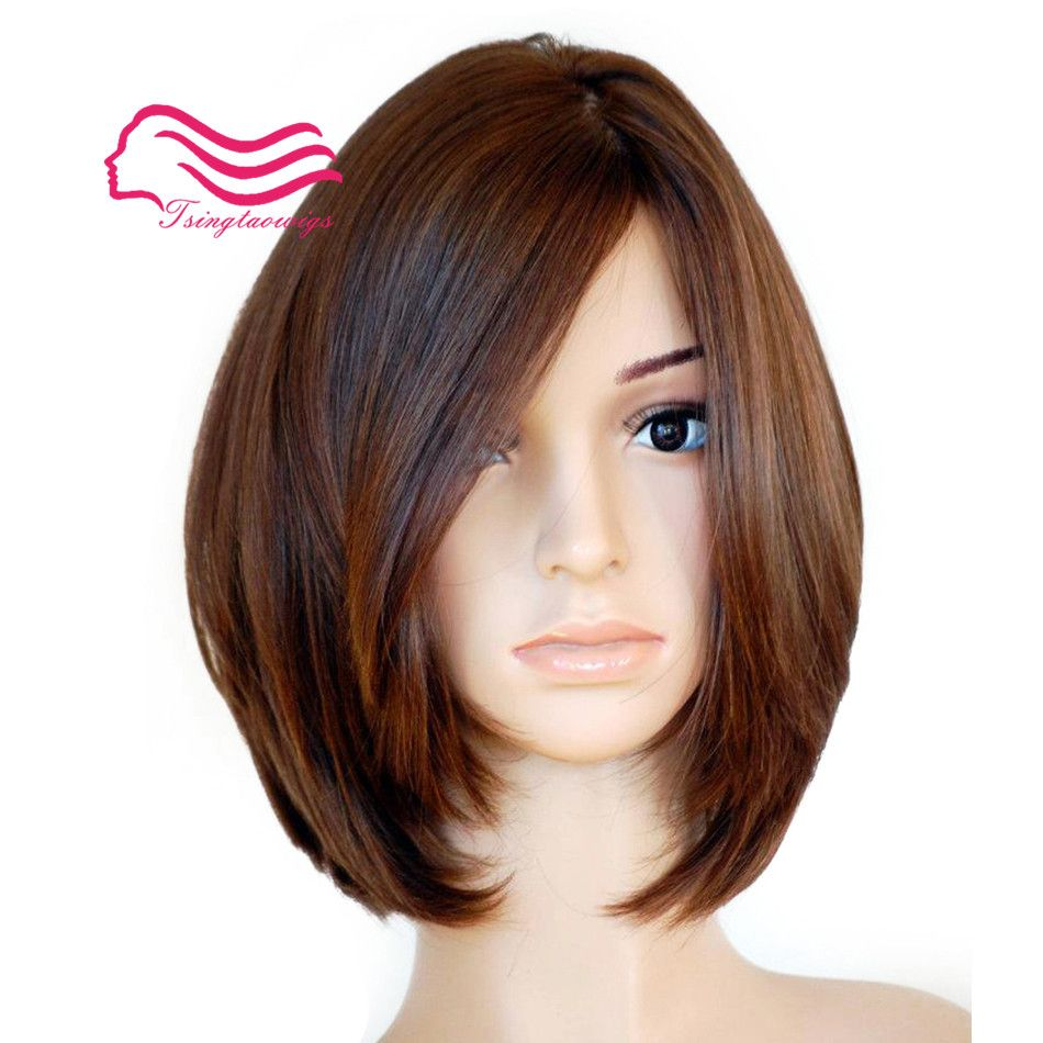 100% Unprocessed European virgin hair , straight with body , Bob jewish wig ,kosher wig Best Sheitels free shipping