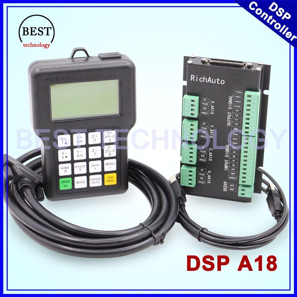Freies Verschiffen! RichAuto DSP A18 4 achsen controller Original A18 Englisch Version Verwendet für cnc-fräsermaschine