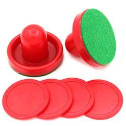 Hoki Udara Aksesoris 76 Mm Kiper & 52 Mm Puck Merasa Pendorong Mallet Dewasa Meja Permainan Menghibur Mainan Lucu Papan permainan