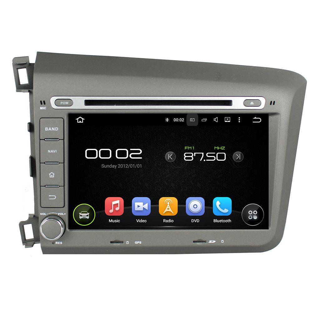OTOJETA Android 8.0 car DVD player octa core 4gb RAM 32gb ROM for honda CIVIC 2012+ tape recorder headunit stereo dvr camera FM