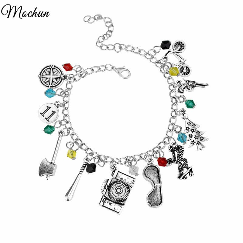 MQCHUN STRANGER THINGS Crystal Beads Alloy Pendant Fashion Alloy Bracelet Christmas Gift For Woman High Quality Jewelry