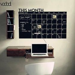 92*60 см доска месяц календарь Доска Съемный планировщик черные настенные наклейки доска офисные школьные виниловые доски