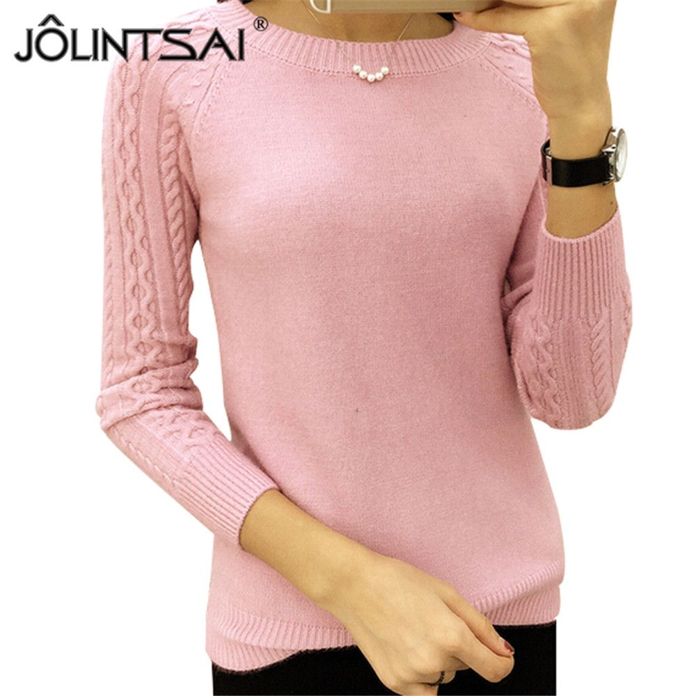 6 Colors Sweaters Women 2018 Hot Sale Winter O-neck Long Sleeve  Pullovers Knitted Sweater Female Warm Tops