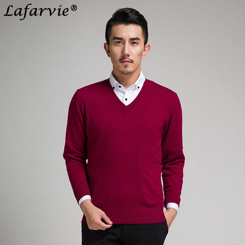Lafarvie новый тонкий вязаный кашемир шерстяной свитер Для мужчин Топы корректирующие Пуловеры для женщин осень-зима теплые Повседневное одно...