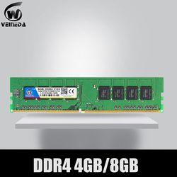 Veineda Ram DDR4 8 GB PC4-19200 Memori RAM DDR 4 2400 untuk Intel AMD Deskpc Mobo DDR4 8 GB 284pin merek DIMM
