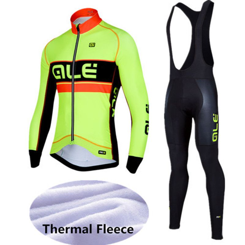 2017 ALE Cycling Set Winter Thermal Fleece Long Sleeves Cycling Jerseys Bicycle MTB Bike Cycling Clothing Ropa Maillot Ciclismo