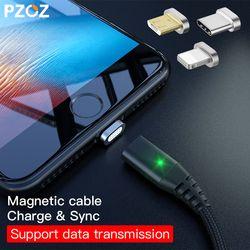 PZOZ Magnétique Câble Type C Micro USB C Éclairage Charge Rapide adaptateur Téléphone Microusb Type-C Aimant Chargeur Pour iphone 7 6 s cordon