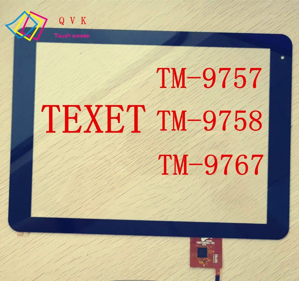 9,7 zoll für TeXet TM 9757 9758 9767 tablet pc kapazitiver touch screen glas digitizer panel kabel code PB97A8592-R2