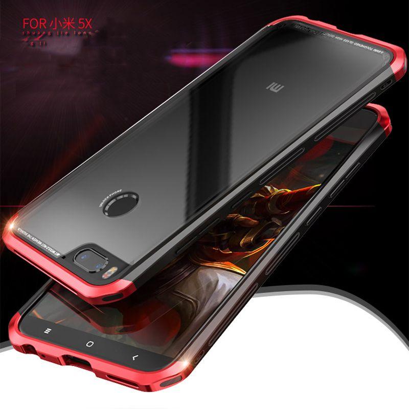 Ultra Slim Aluminum Case+9H tempered glass Men Metal Phone Cases Cover For Xiaomi Mi mix5X/A1 note 2/Mi5s Plus/Redmi 4X Frame