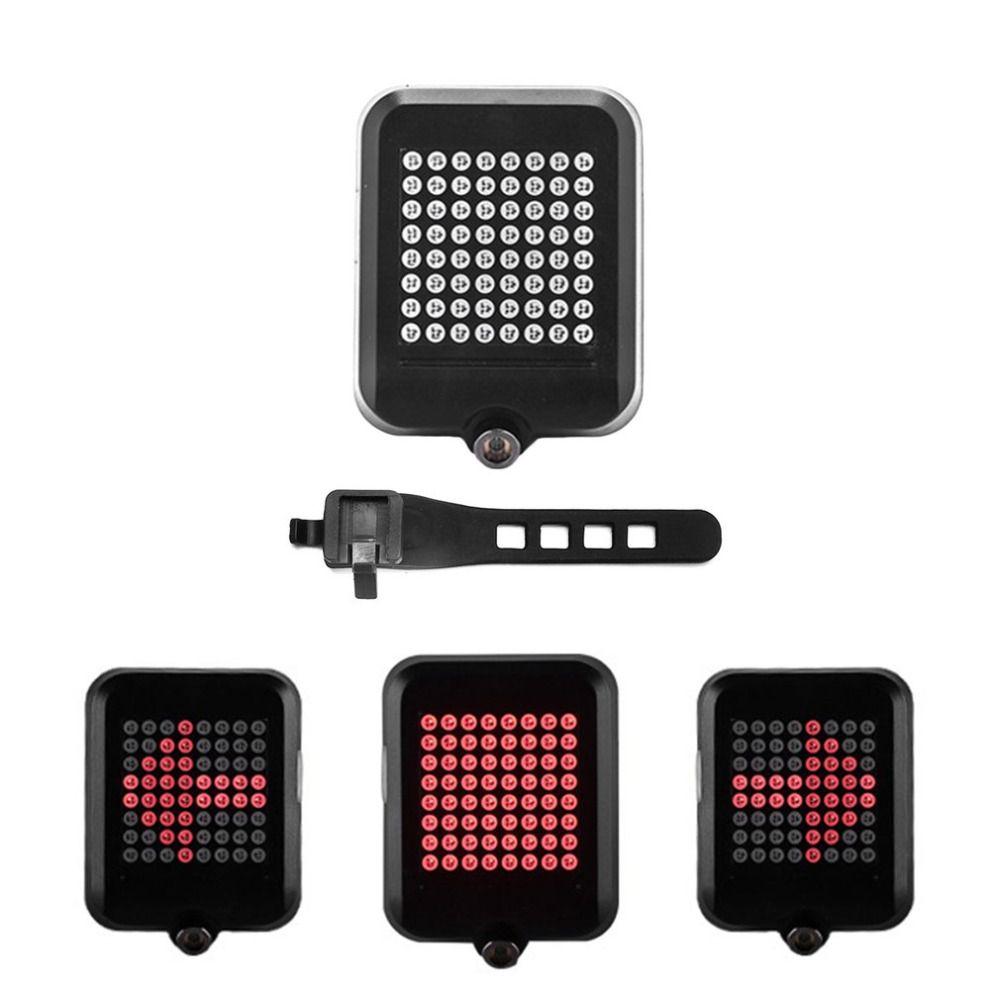 64 LED Laser Bike Blinker Licht USB Aufladbare Sicherheit Warnung Licht Intelligente Fahrrad Hinten Schwanz Licht Großhandel