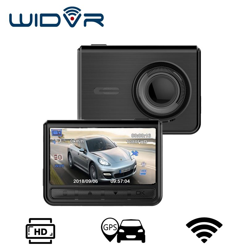 WIDVR New dash camera 3 in 1 GPS WIFI Novatek 96658 Sony IMX 323 Full HD 1080P Car dvr for xiaomi GPS chip Dash cam