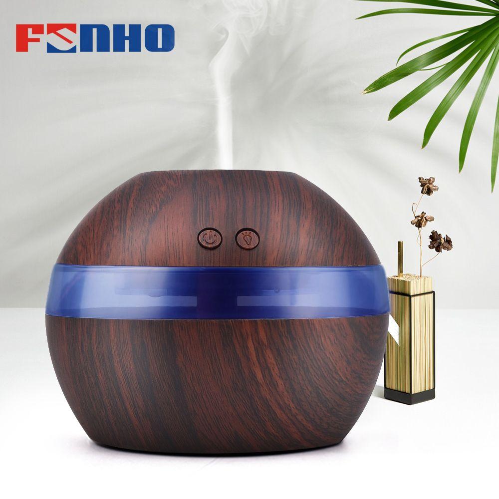 FUNHO 300 ml Air Arôme Humidificateur D'huile Essentielle Diffuseur Aromathérapie Lumière de Nuit Ultrasons Classique Mist Maker Pour La Maison 001