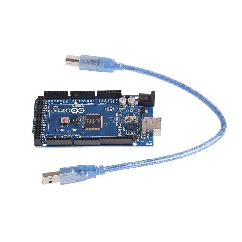 Para MEGA 2560 Junta de Desarrollo R3 ATMEGA16U2 Con Cable USB Para Z09 nave de La Gota