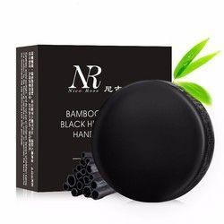 Cuidado DE LA PIEL Bañeras Cuerpo eliminar el aceite negro de carbón de bambú Jabones facial handmade limpieza profunda Jabones blanqueamiento maquiagem herramienta hecha a mano nueva