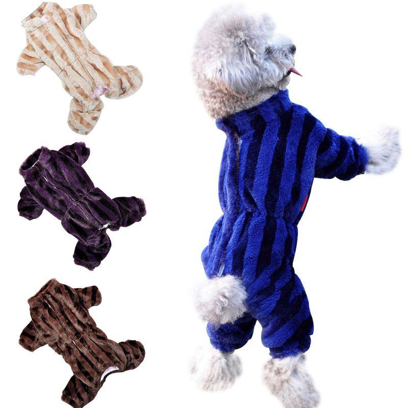 Großhandel Günstige Pet Puppy Hund Kleidung Herbst Winter Insgesamt Verdickung Hund Unten Overall Warmfutter Puppy Coat Größe 8-18