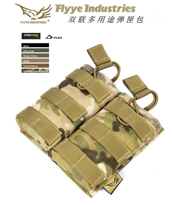 FLYYE MOLLE EV Universal Doble Mag Pouch CORDURA Militar que acampa yendo de modular FY-PH-M024