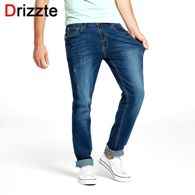 Drizzte Hommes Nouvelle Mode des Jeans Designer Plus La Taille 33 34 35 36 38 40 42 44 46 Hommes de Stretch Slim Denim Jeans Pantalon Pantalon