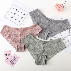BEFORW Sexy Lace Panties Women Fashion Cozy Lingerie Tempting Pretty Briefs High Quality Cotton Low Waist Cute Women Underwear