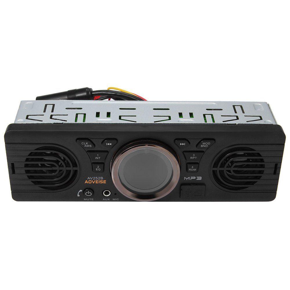 Vehicle Electronics In-dash MP3 Audio Player Car Stereo FM Radio AV252B 12V Bluetooth 2.1 + EDR with USB / TF Card Port