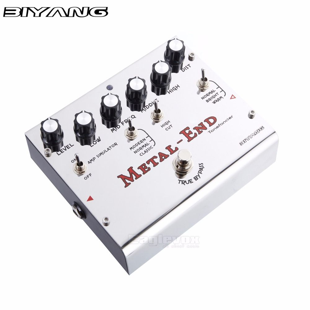 Biyang Metal End Guitar Effect Pedal Effects Stompbox for Electric Guitar Give More Choice for Different Types of Music